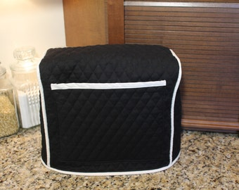 Nespresso/Espresso Machine Cover - 300+ Color Combos To Pick From - (Black/Cream Shown) - Gift under 50