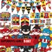 Superboys and supergirls party package, to decor your superhero birthday party - Printable PDF files.
