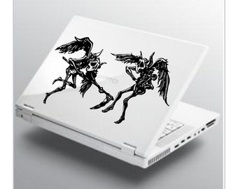 Flying Demons Decal devil sticker wall art car graphics room decor emo goth gothic metal AA49