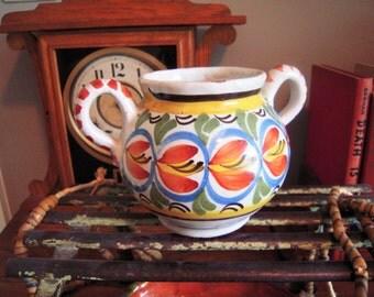 Antique French Quimper Sugar Pot 19th Century