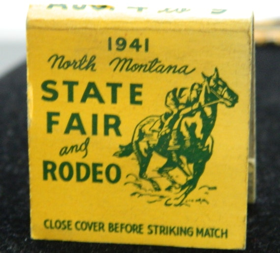1941 North Montana State Fair And Rodeo Match Book