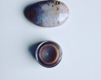 grey french lavender organic eye shadow. all natural botanical makeup. handmade cream eye shadow pigment.