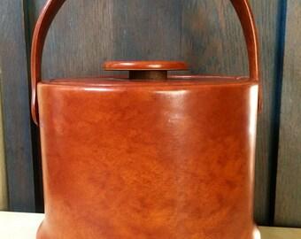 Vintage Mid Century Mod KRAFTWARE Vinyl Ice Bucket