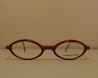 Emanuel Ungaro Paris Tiny Slight  Vintage eyewear made in italy in the 90s
