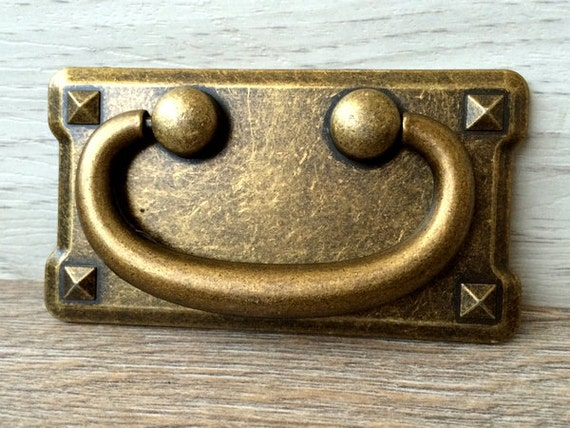 3 vintage style drop bail dresser pulls drawer pull for Furniture bail pulls