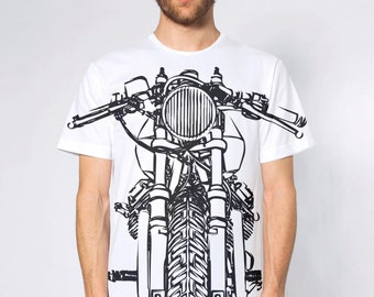 KillerBeeMoto: Vintage Italian Cafe Racer V-Twin Motorcycle All Over Print T-Shirt