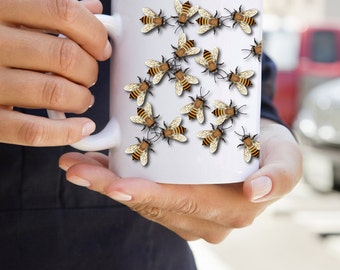 KillerBeeMoto:  Beekeepers U.S. Made Coffee Mug With Angry Bee Swarm