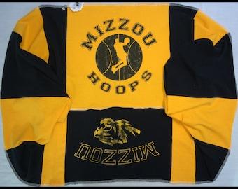 Infinity Loop Scarf MU University of MISSOURI TIGERS Mizzou Basketball Team Spirit Upcycled Woman's T-Shirt New Handmade Scarves