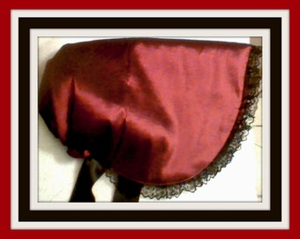 REGAL RED Holiday Victorian Bonnet