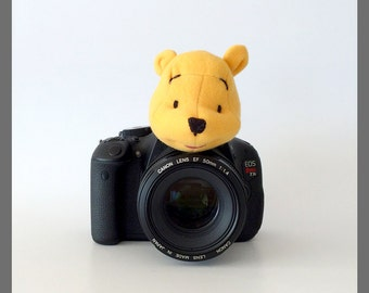 Kids/Baby Photo Props, Camera Lens Toy Critters, Photography Accessories, DSLR Camera Creatures Prop, Winnie the Pooh Bear