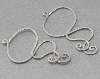 Haze Brass Pendant . Matte Original Rhodium Plated . 10 Pieces / C3148S-010