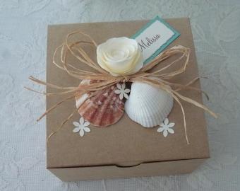 Will you be my Bridesmaid-Bridesmaid Box Invitation, Bridesmaid Gift Box - Beach Wedding. Destination Wedding