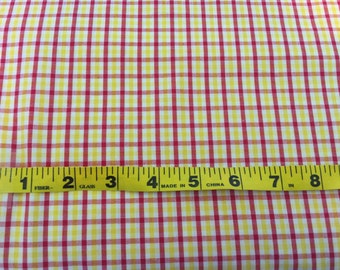 """Red and Yellow Check Fabric 60"""" wide"""
