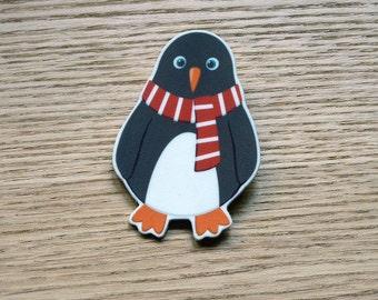 Illustrated Penguin Brooch - Reg the Penguin Badge