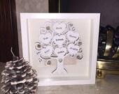 Wooden Family Tree Print