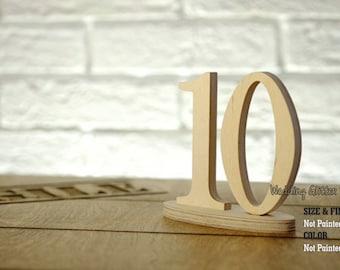DIY Wood Table numbers, Table Number, Wedding Reception Table, Numéro de Table, Standing Table Numbers