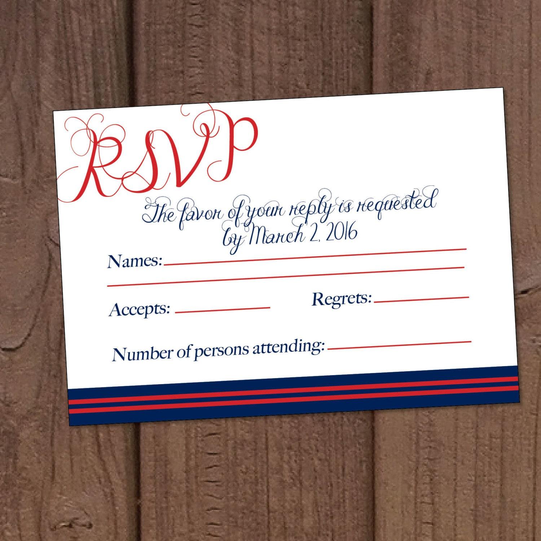 Marine Wedding Invitations: Marine Military Wedding Invitation RSVP Card