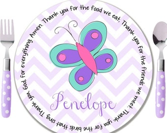 Butterfly baptism etsy purple butterfly baptism plate godchild gifts personalized baptism gift personalized christening gift idea negle Images
