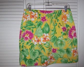 Vintage Pappagallo Floral Skort Skirt Shorts.  Fun Modest Short Treatment Size 6P