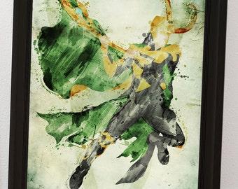 Loki (the trickster)- Minimalist Posters- Homage to Marvel's Loki
