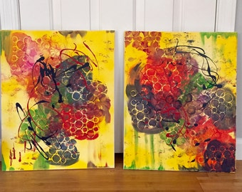 Two Original Acrylic Paintings