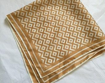 vintage Vera scarf // 50s 60s mid century print scarf
