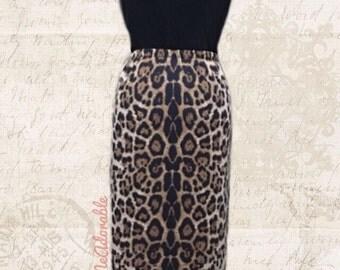"""The """"Saylor"""" Animal Print Pencil Skirt"""