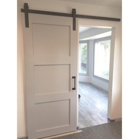 3 Panel Sliding Glass Door: 3 Panel Design Painted Sliding Barn Door