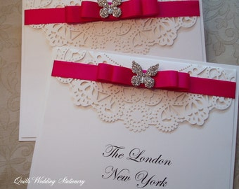 Butterfly & Lace Table Names / Numbers. Wedding Table Numbers / Names. Country Style Wedding.