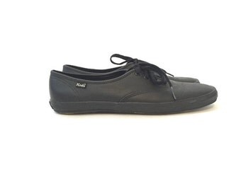 Black Leather Keds