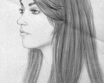 Custom Graphite Portrait Drawing
