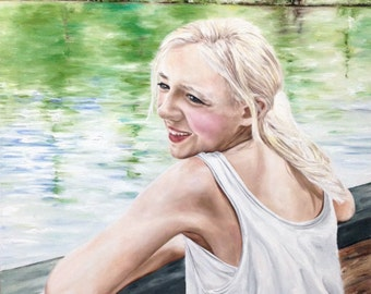 Custom oil portrait for Becca