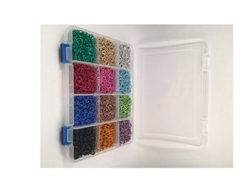 Jewelry maker's starter kit! 2400 colored anodized aluminum jump rings!! On sale!!