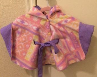 Poncho Coat   PINK AZTEC - Baby - Toddler - Kids