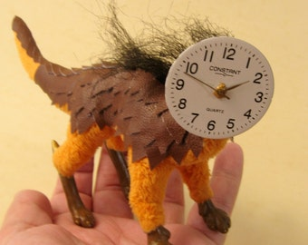 """OOAK posable art doll surreal doll """"Time"""""""