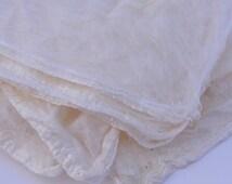 "Silk fiber ""hankies"", 4 ounces"