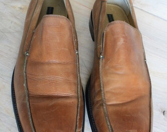 Mens Vintage Bostonian Leather Loafers Size 12