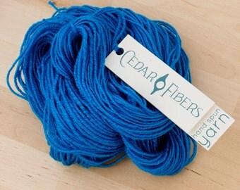 Bamboo Handspun Yarn | Aegean Blue