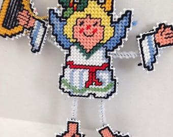 Angel Pin Pal Christmas ornament or pin