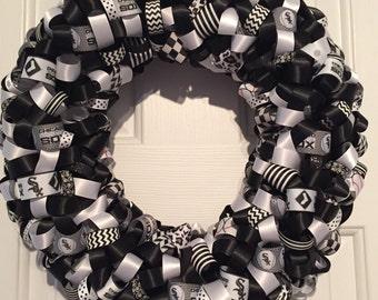 Handmade Chicago White Sox Ribbon Wreath
