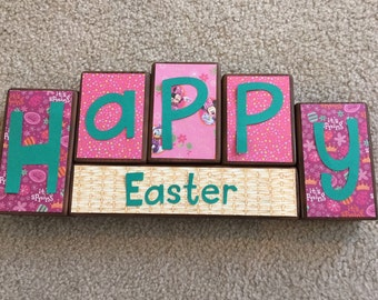 Easter blocks- Minnie