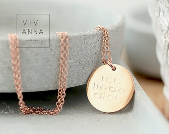 Forever - Rosé gold necklace (wish Engravings) - K368
