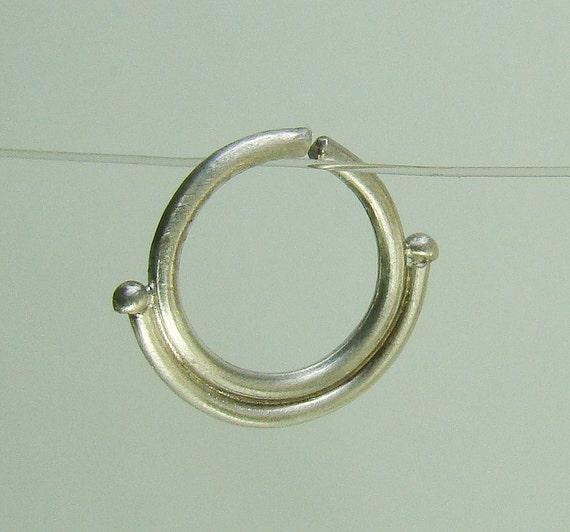 septum ring silver septum tribal silver by shirazelohevjewelry