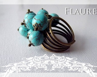 Ring turquoise beads