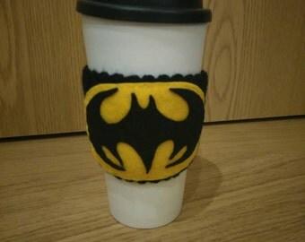 Batman Logo/ Bat Signal Cup Cozy