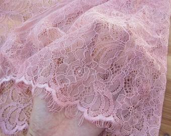 blush pink lace trim,3yards Eyelash Lace trim ,dress wedding lace ribbon,DIY lace