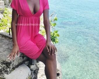 Beach dress bikini cover up, pull over free size