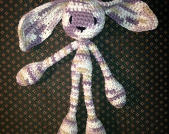 Bunny Doudou - Amigurumi - Hand crocheted with Cotton