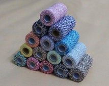 Free Shipping Cotton Baker's Twine 2 Ply Multi-color Scrapbooking Package Wrap Gift Wrap 110 Yard 15 Colors