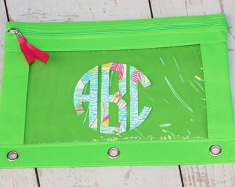 Lilly Pulitzer Monogrammed Pencil Pouch, Personalized Pencil Case, Regatta Monogram Pencil Pouch Case, Back to School, Personalized Makeup